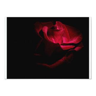 Red Rose 13 Cm X 18 Cm Invitation Card