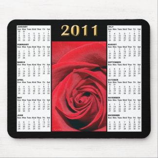 Red Rose 2011 Calendar Mousepad