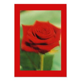 red rose 2 13 cm x 18 cm invitation card