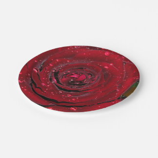 Red Rose #2 7 Inch Paper Plate