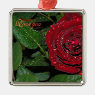 Red Rose #2 Christmas Tree Ornaments