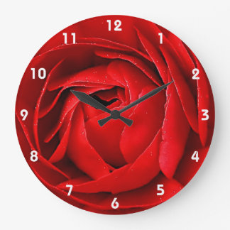 RED ROSE 2 LARGE CLOCK