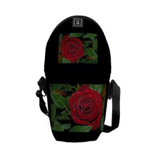 Red Rose #2 Courier Bag