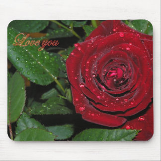 Red Rose #2 Mouse Pad