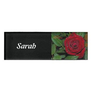 Red Rose #2 Name Tag