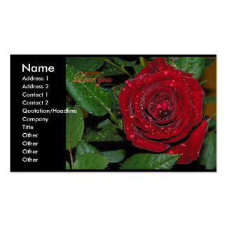 Red Rose #2 Pack Of Standard Business Cards