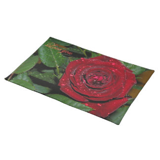 Red Rose #2 Place Mats
