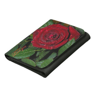 Red Rose #2 Leather Wallet