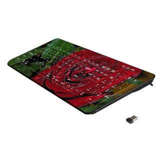 Red Rose #2 Wireless Keyboard