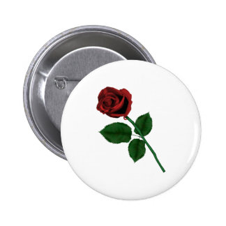 Red Rose 6 Cm Round Badge