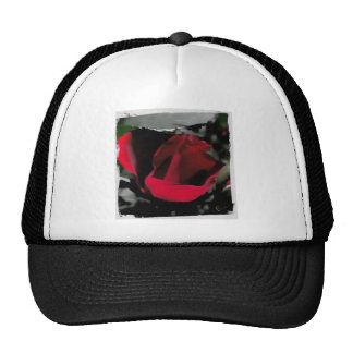 Red Rose Abstract Trucker Hat