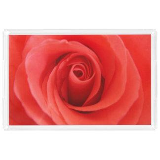 Red Rose Acrylic Tray