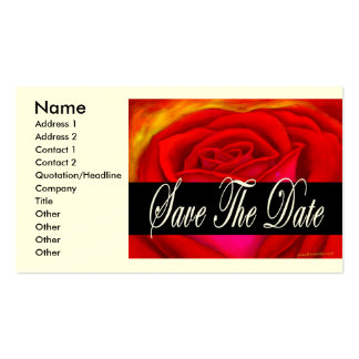 Red Rose Art Save The Date - Multi Pack Of Standard Business Cards