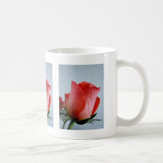 Red rose basic white mug