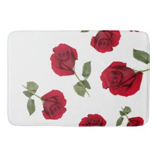 Red rose bath mat bath mats