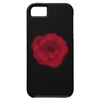 Red Rose. Black Background. Case For The iPhone 5