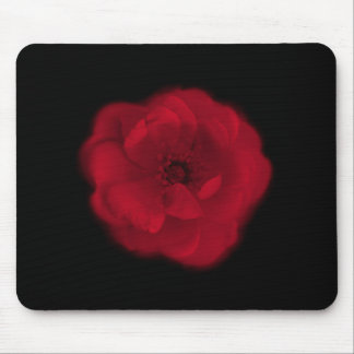 Red Rose. Black Background. Mouse Pad