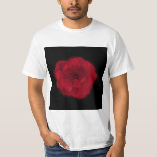 Red Rose. Black Background. T-Shirt