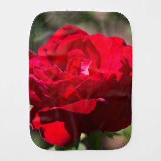 Red Rose Blossom Baby Burp Cloth