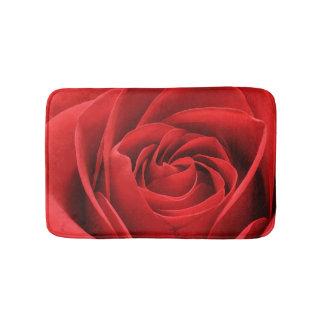 Red Rose Blossom Bath Mats