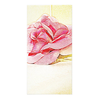 Red Rose Bookmark Photo Greeting Card