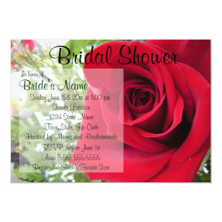 Red Rose Bridal Shower Invitation