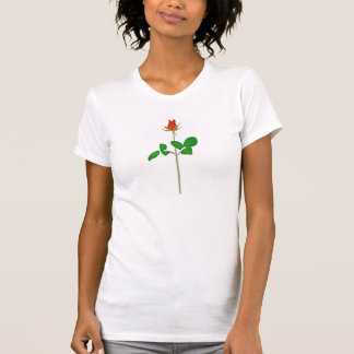 Red Rose Bud on Stem T-Shirt