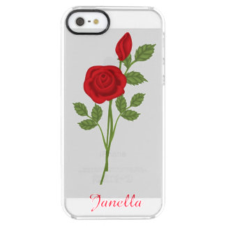 Red Rose Clear iPhone 5 Case