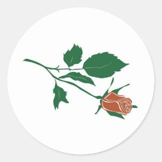 Red Rose Clipart Round Sticker