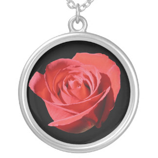 Red Rose Close Lone Necklace