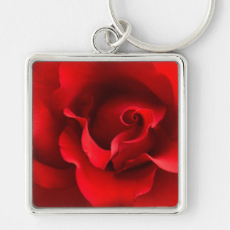 Red Rose Close-Up - Customized Key Ring