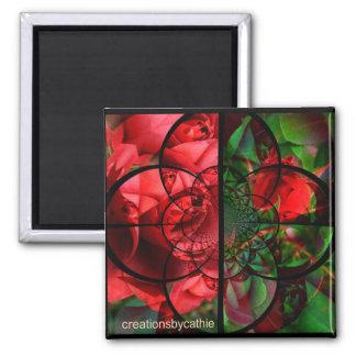 Red Rose collage Refrigerator Magnet