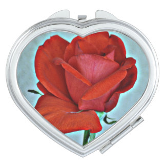 Red Rose Compact Mirror
