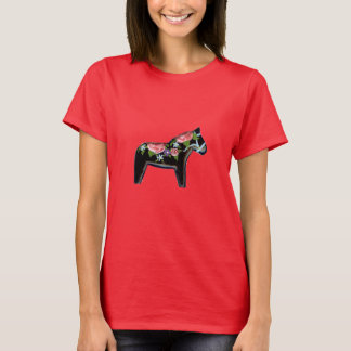 Red Rose Dala Horse T-Shirt