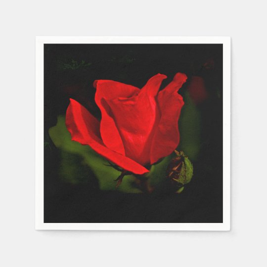 Red Rose - Dark Passion Paper Napkins