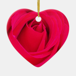 Red Rose Ceramic Heart Decoration
