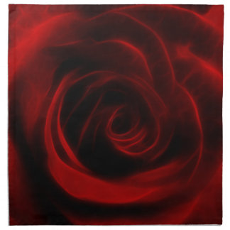 Red Rose depth of love Napkin