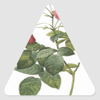 Red Rose Design Triangle Stickers