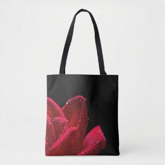 Red Rose design tote bags