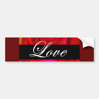 Red Rose Dog Cat Painting Art - Multi Bumper Sticker
