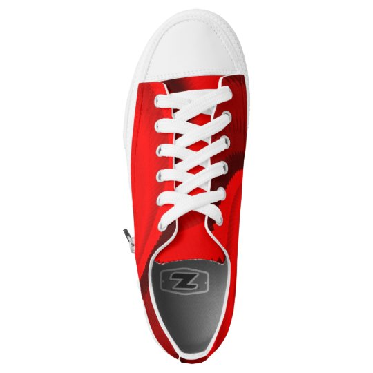 Red Rose Dragon Scales Spiral Low Tops