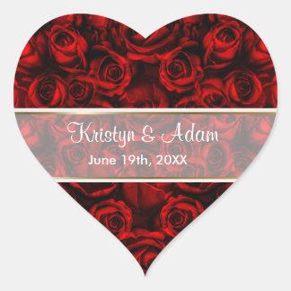 Red Rose Elegance - Customize Heart Sticker