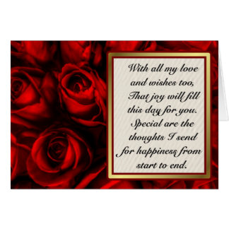 Red Rose Elegance - Customize inside text Greeting Cards