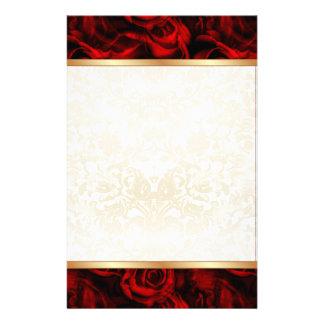 Red Rose Elegance Stationery