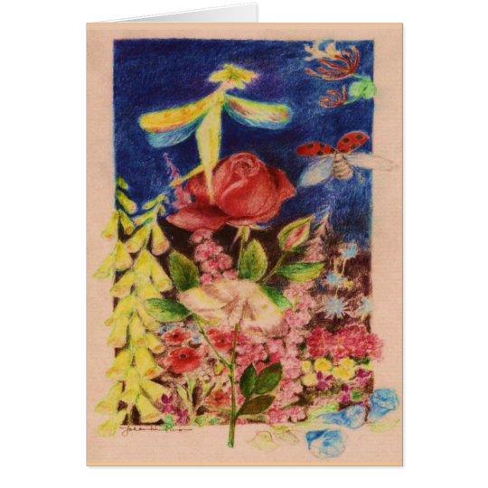 Red Rose elve Card