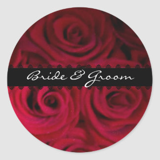 Red rose Envelope Stickers