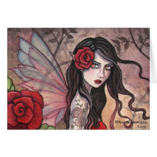 Red Rose Fairy Greeting Card by Molly Harrison