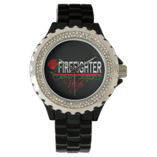 Red Rose FIREFIGHTER WIFE Watch