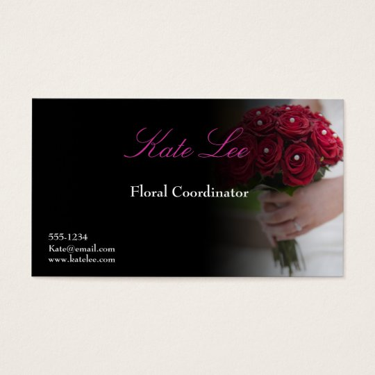 Red rose Floral business card