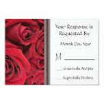 Red Rose Floral RSVP Card Custom Invite
